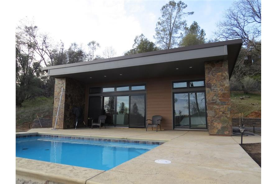 Pool of this 2-Bedroom,640 Sq Ft Plan -640
