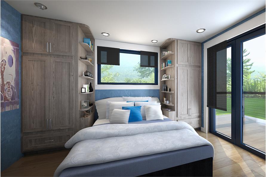 Bedroom of this 2-Bedroom,640 Sq Ft Plan -640