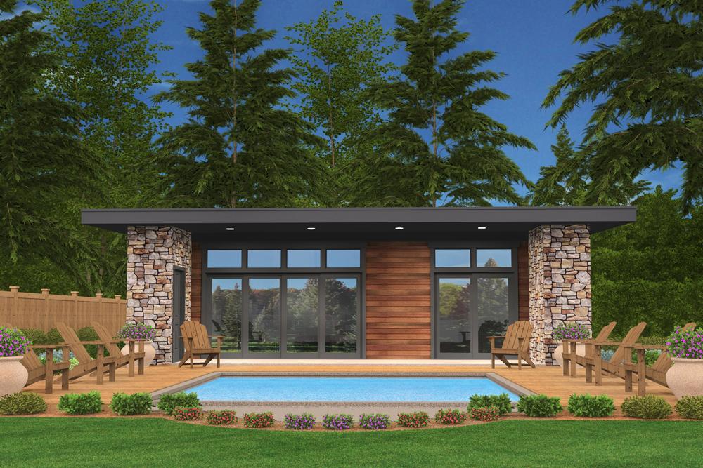 Modern Home Plan 2 Bedrms 1 Baths 640 Sq Ft 149 1886