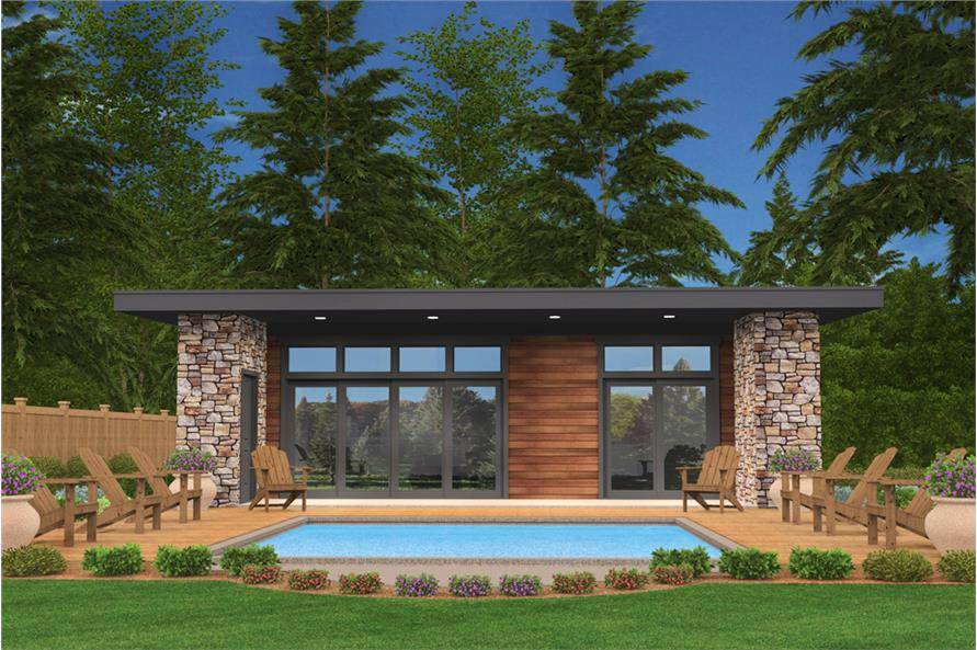 Home Plan Rendering of this 2-Bedroom,640 Sq Ft Plan -640