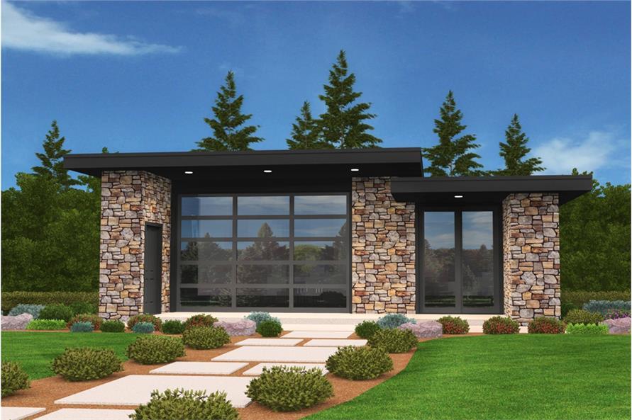 modern house plan 2 bedrms 1 baths 640 sq ft 149 1887