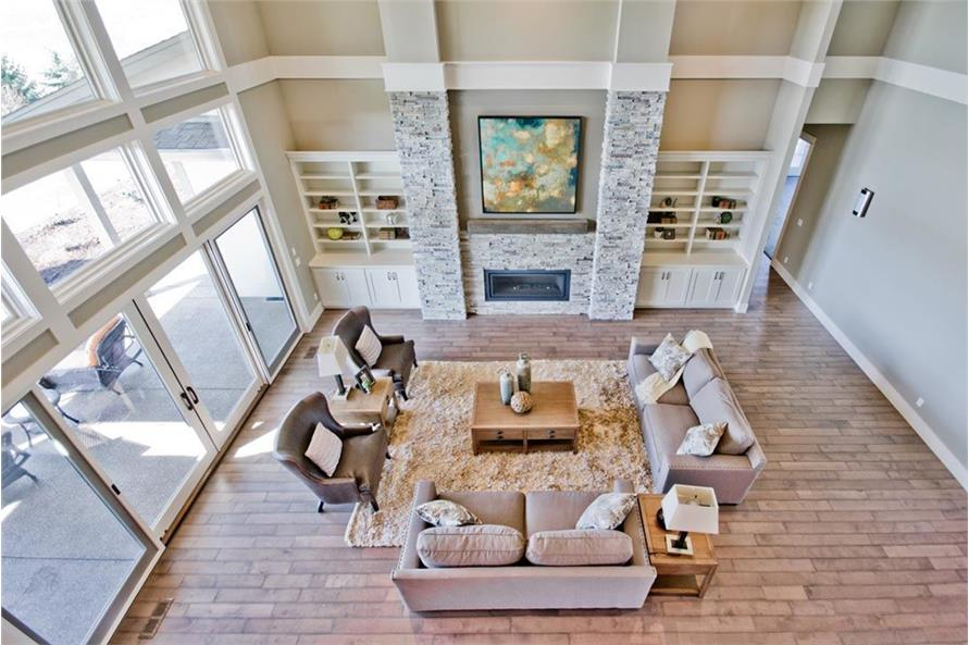 Living Room of this 4-Bedroom,4820 Sq Ft Plan -4820