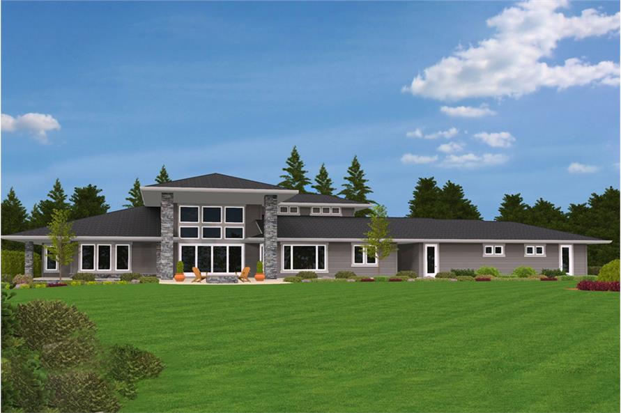Home Exterior Photograph of this 4-Bedroom,4820 Sq Ft Plan -4820