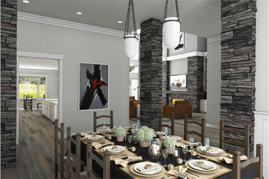 Dining Room of this 4-Bedroom,4820 Sq Ft Plan -4820