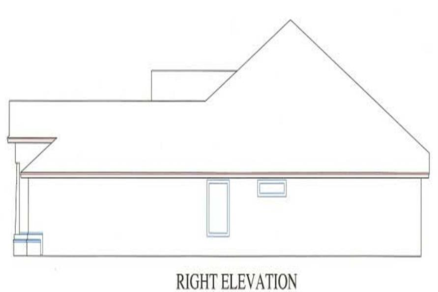 Home Plan Right Elevation of this 3-Bedroom,1784 Sq Ft Plan -150-1000