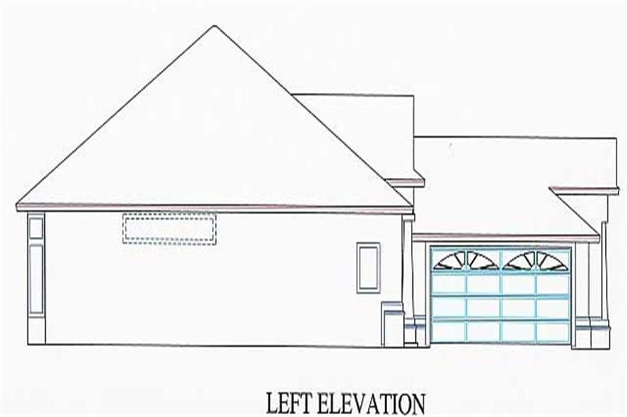 Home Plan Left Elevation of this 3-Bedroom,1802 Sq Ft Plan -150-1002