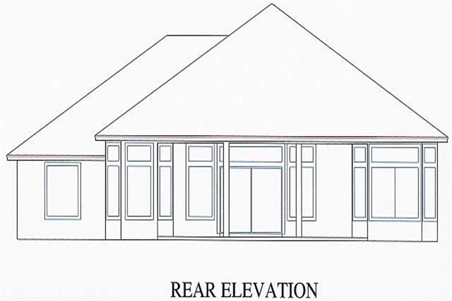 Home Plan Rear Elevation of this 3-Bedroom,1802 Sq Ft Plan -150-1002