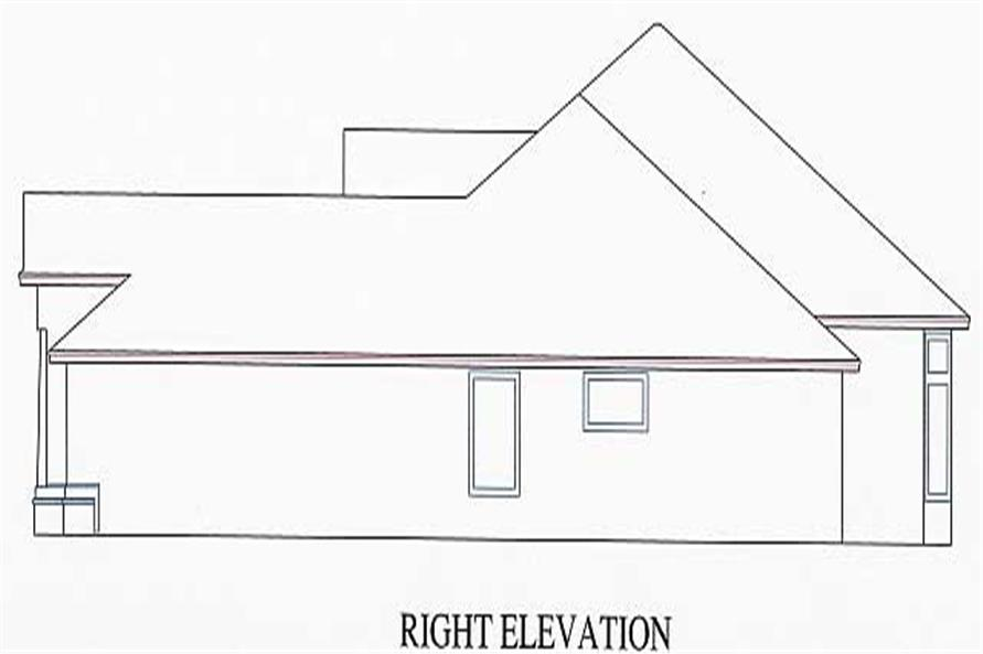 Home Plan Right Elevation of this 3-Bedroom,1802 Sq Ft Plan -150-1002