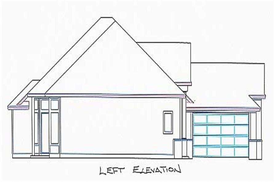 Home Plan Left Elevation of this 4-Bedroom,1933 Sq Ft Plan -150-1004