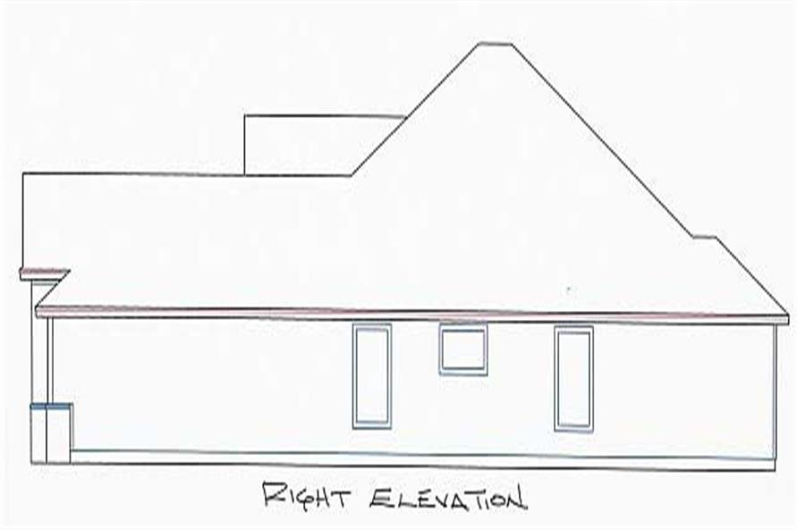 Home Plan Right Elevation of this 4-Bedroom,1933 Sq Ft Plan -150-1004