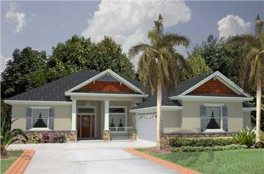 4-Bedroom, 2245 Sq Ft Florida Style Home Plan - 150-1005 - Main Exterior