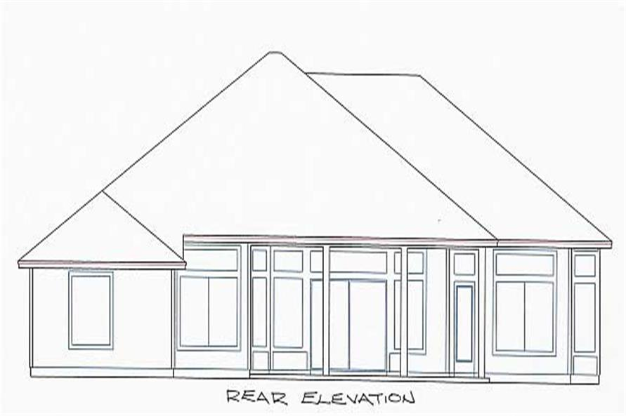 Home Plan Rear Elevation of this 4-Bedroom,2245 Sq Ft Plan -150-1005