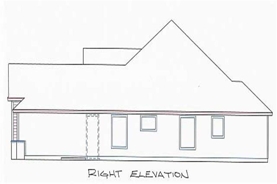 Home Plan Right Elevation of this 4-Bedroom,2245 Sq Ft Plan -150-1005