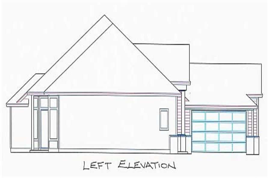Home Plan Left Elevation of this 4-Bedroom,2245 Sq Ft Plan -150-1005