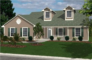 3-Bedroom, 1418 Sq Ft Florida Style House Plan - 150-1009 - Front Exterior