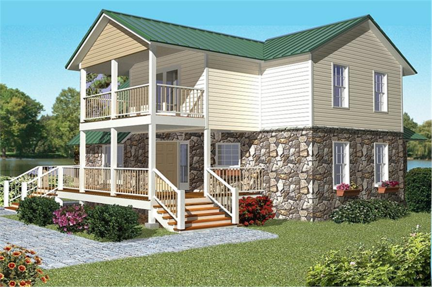 Home Plan Rear Elevation of this 2-Bedroom,1719 Sq Ft Plan -150-1010