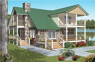 2-Bedroom, 1719 Sq Ft Vacation House Plan - 150-1010 - Front Exterior