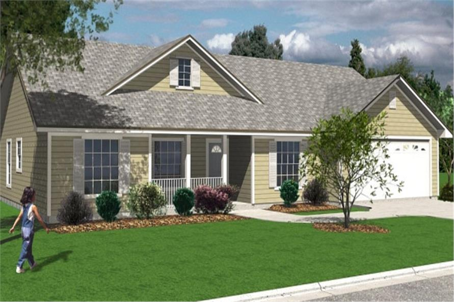 3-Bedroom, 1458 Sq Ft Florida Style Home Plan - 150-1011 - Main Exterior