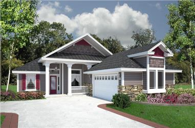 4-Bedroom, 1976 Sq Ft Florida Style Home Plan - 150-1017 - Main Exterior