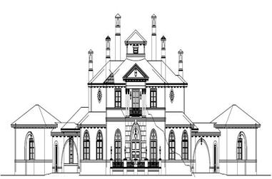 This is the front elevation of these Luxury House Plans.
