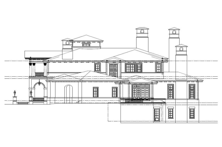 Home Plan Right Elevation of this 8-Bedroom,11580 Sq Ft Plan -152-1001