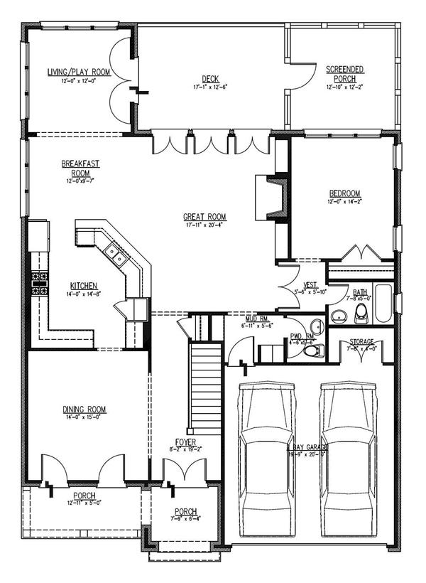 Floor Plan Fifth Story