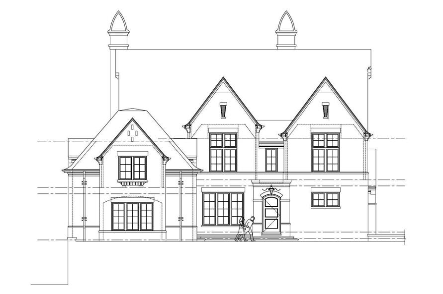 5-Bedroom, 4696 Sq Ft Country Home Plan - 152-1003 - Main Exterior