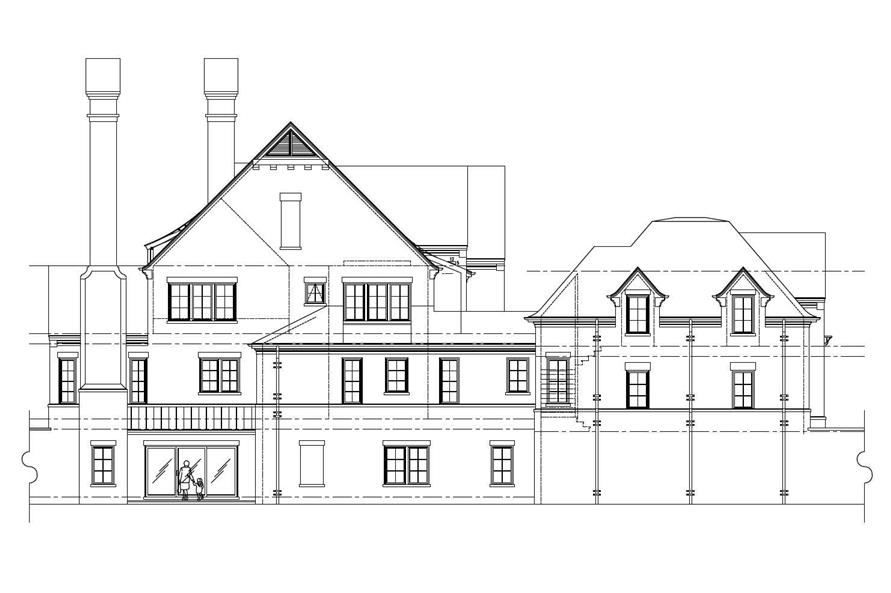 Home Plan Left Elevation of this 5-Bedroom,4696 Sq Ft Plan -152-1003