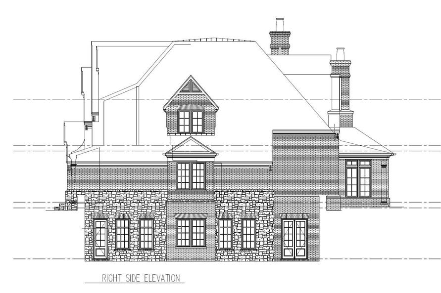 Home Plan Right Elevation of this 5-Bedroom,5559 Sq Ft Plan -152-1004