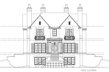 4-Bedroom, 4648 Sq Ft House Plan - 152-1006 - Front Exterior