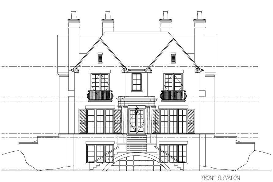 This is the front elevation of this House Plan.