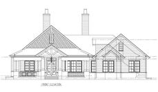 This is the front elevation of these Craftsman Houseplans.