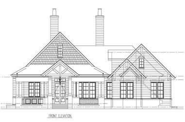 4-Bedroom, 4113 Sq Ft Craftsman House Plan - 152-1007 - Front Exterior