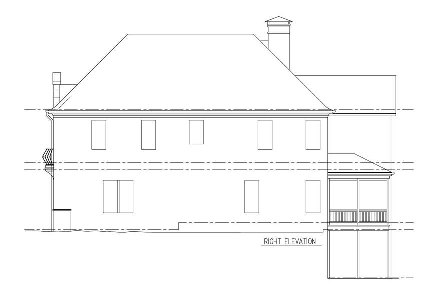 Home Plan Right Elevation of this 5-Bedroom,4253 Sq Ft Plan -152-1010