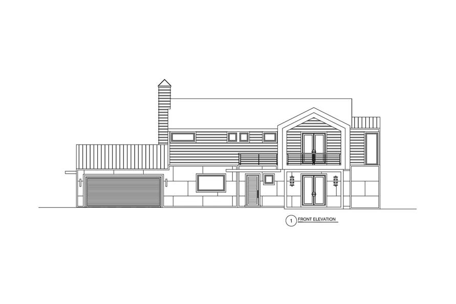 Home Plan Front Elevation of this 3-Bedroom,2864 Sq Ft Plan -152-1012