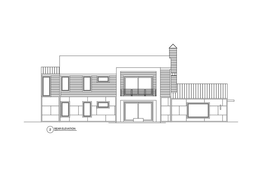 Home Plan Rear Elevation of this 3-Bedroom,2864 Sq Ft Plan -152-1012