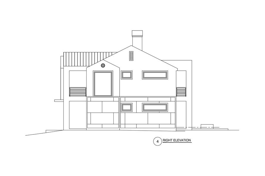 Home Plan Right Elevation of this 3-Bedroom,2864 Sq Ft Plan -152-1012