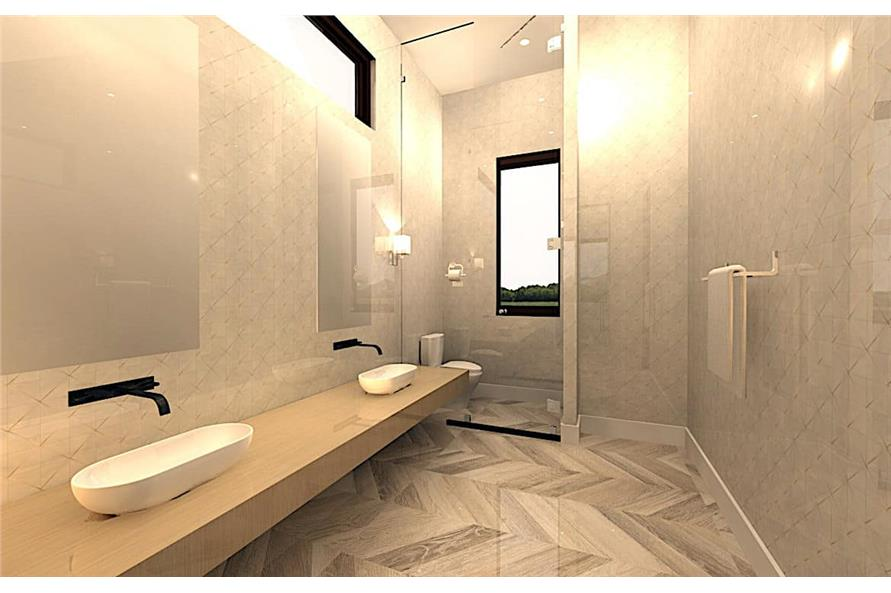 Master Bathroom of this 4-Bedroom,3762 Sq Ft Plan -3762