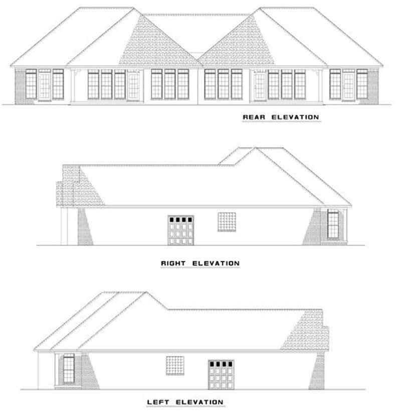 Multi unit house plan 153 1000 2 bedrm 1387 sq ft per for Multi unit home plans