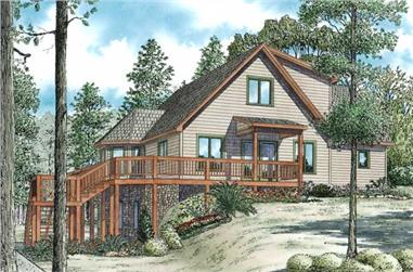 3-Bedroom, 2340 Sq Ft Rustic House Plan - 153-1001 - Front Exterior
