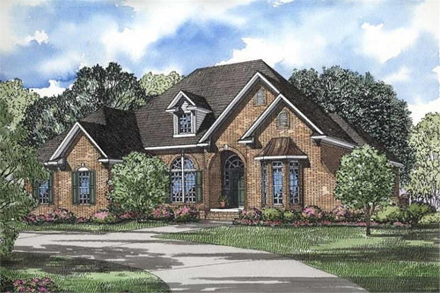3-Bedroom, 2444 Sq Ft House Plan - 153-1004 - Front Exterior