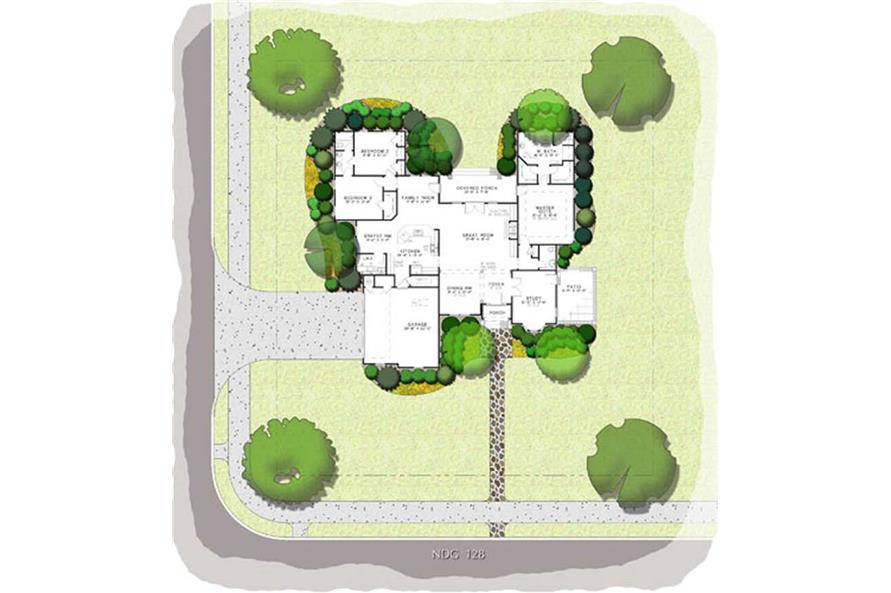 Home Plan Aux Image of this 3-Bedroom,2444 Sq Ft Plan -2444