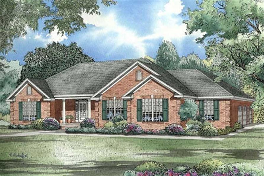 Home Plan Rendering of this 3-Bedroom,2096 Sq Ft Plan -153-1005