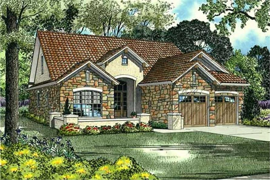 4-Bedroom, 1875 Sq Ft Country Home Plan - 153-1006 - Main Exterior