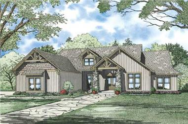 6-Bedroom, 6089 Sq Ft Craftsman Home Plan - 153-1008 - Main Exterior