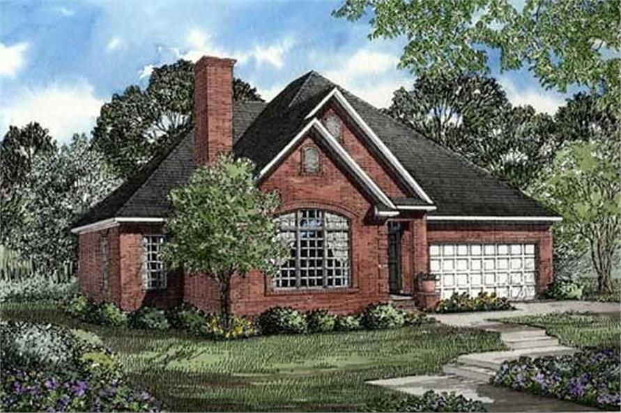 Home Plan Front Elevation of this 3-Bedroom,1654 Sq Ft Plan -153-1009
