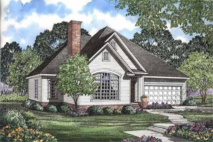 3-Bedroom, 1654 Sq Ft Small House Plans - 153-1009 - Main Exterior