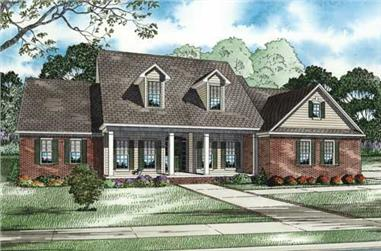 3-Bedroom, 2755 Sq Ft Cape Cod House Plan - 153-1011 - Front Exterior