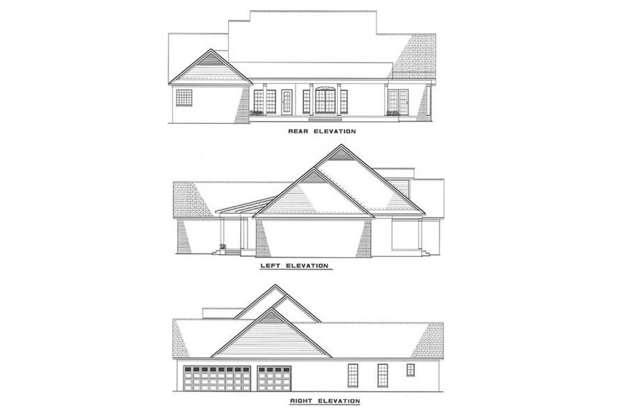 Home Plan Rear Elevation of this 3-Bedroom,2755 Sq Ft Plan -153-1011