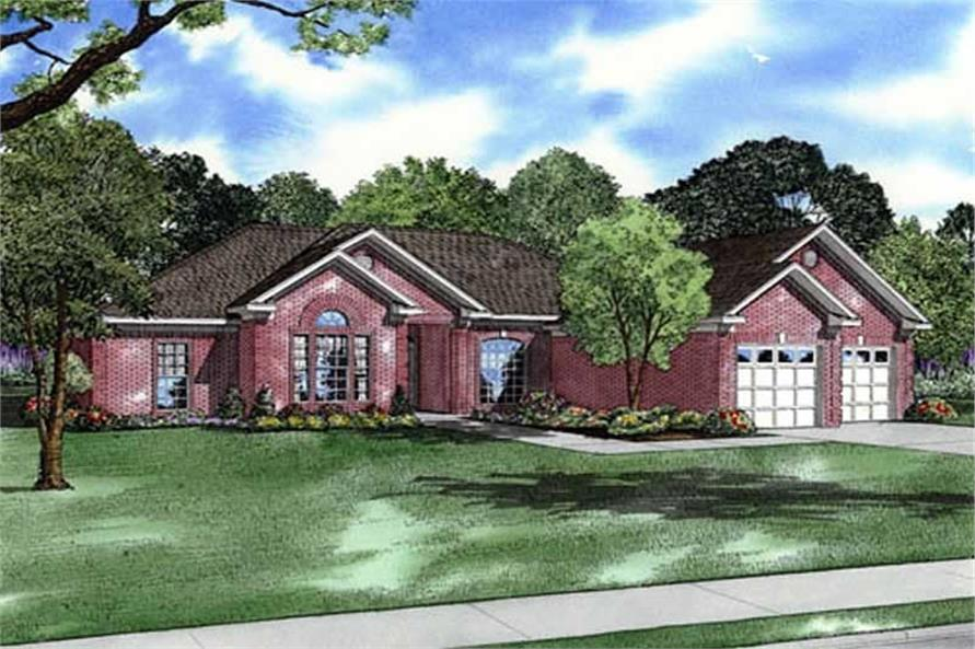 4-Bedroom, 2439 Sq Ft Southern House Plan - 153-1012 - Front Exterior